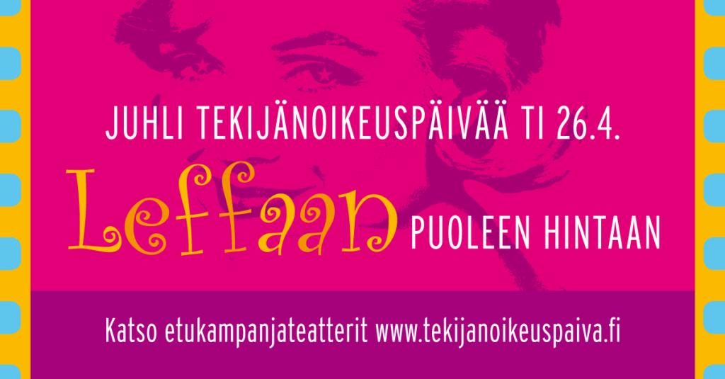 Juhli Kanssamme Tekijänoikeuspäivää 26.4.